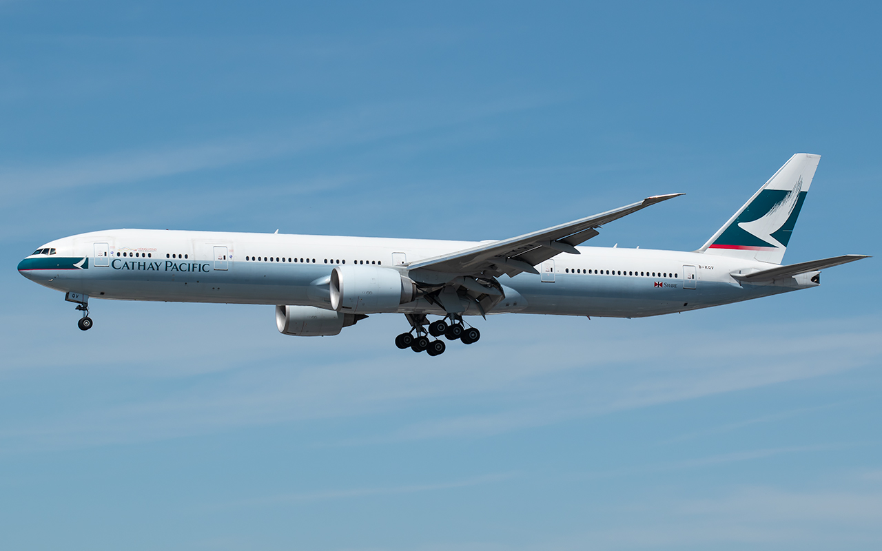 Click image for larger version.  Name:Cathay Pacific 77W B-KQV JP.jpg Views:16 Size:284.9 KB ID:23035