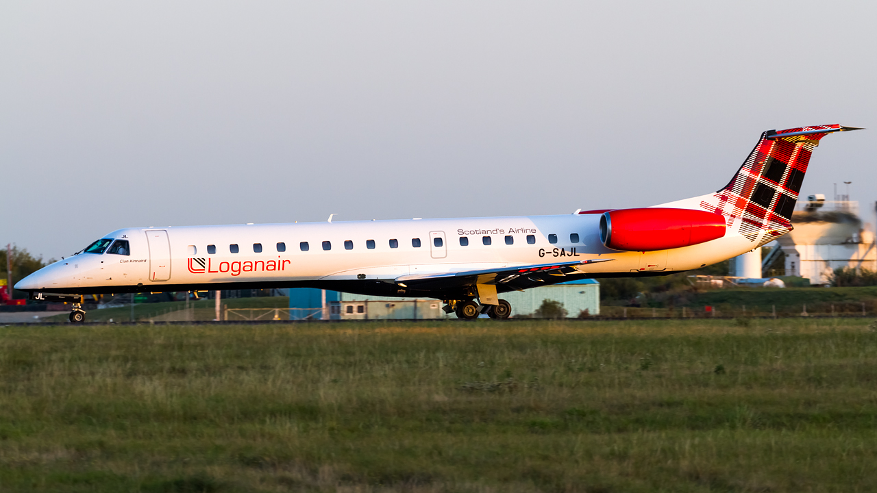 Click image for larger version.  Name:Loganair Embraer ERJ-145EP REG- G-SAJL.jpg Views:13 Size:495.1 KB ID:28659